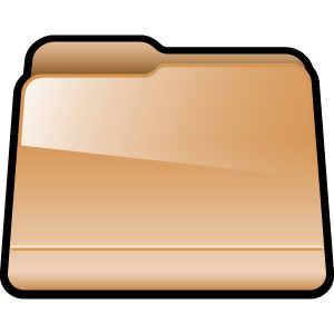 folder, generic, brown icon
