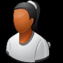 female, person icon