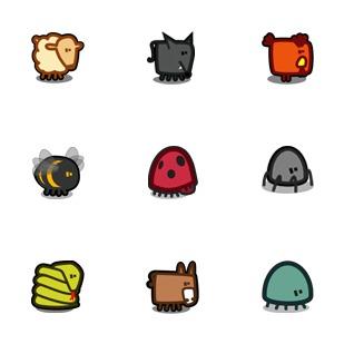 Zootetragonoides 2 icon sets preview