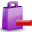 delete, shoppingbag icon