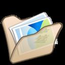 folder,beige,mypictures icon