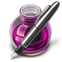Pink Fire w silver pen icon