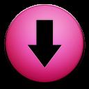 down, decrease, descend, descending, download, fall icon