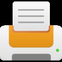 printer orange icon