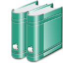 librarygreen, book icon
