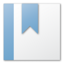 blue, bookmark icon