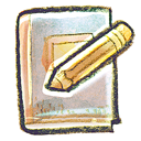 edit, book icon