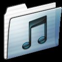 Folder, Graphite, Music, Stripe icon
