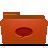 conversation, folder, red icon