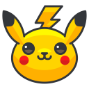 play, pikachu, pokemon, go, game icon