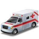 vehicle, car, transport, transportation, automobile, ambulance, doctor, emergency icon