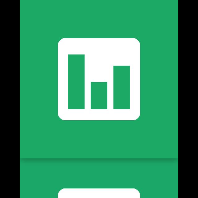chart, mirror, google, doc icon
