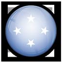 of, flag, micronesia icon