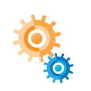 connection, internet, marketing, seo, business, thinking, cogs icon