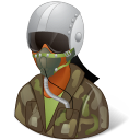 Occupations Pilot Military Female Dark icon