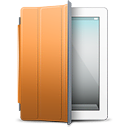 iPad White orange cover icon