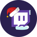 christmas, twitch, stream icon