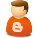 user,web,blogger icon