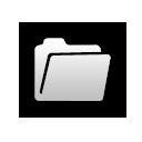 folder, white icon