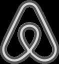 airbnb, social, brand, logo, network icon