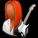 Occupations Guitarist Female Dark icon