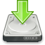 download, save, harddisk icon