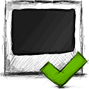 accept, photo icon