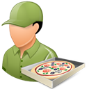 Light, Male, Pizzadeliveryman icon