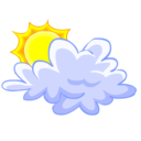cloud,sun,weather icon