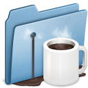 Alt, Blue, Coffee icon