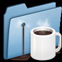 Alt, Blue, Coffee icon