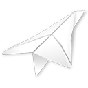 paper plane, folded, outbox, folder icon