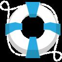 Lifesaver lifebuoy blue icon
