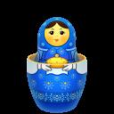 blue matreshka inside icon