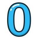 study, blue, numbers, number, zero icon