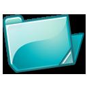 cyan, folder icon