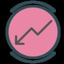 Income decrease icon