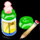 bottle, write, writing, edit, feeding icon