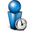 Absent blue icon