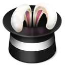 rabbit, magic, hat icon