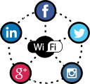 facebook, marketing, twitter, social media, social, wifi, hotspot icon