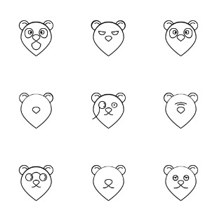 bear icon sets preview