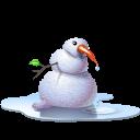 winter, snowman, pool icon