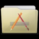 beige folder apps icon