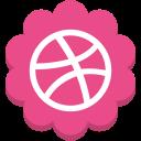 media, social, dribble, flower, round icon