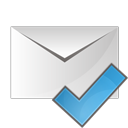 email, ok, check icon