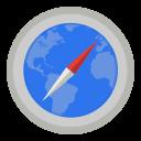 Internet safari with map icon