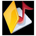 folder music yellow icon