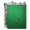 cash, folder, coin, dollar, currency, money icon