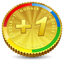 google+, one, plus, +1, google, coin icon